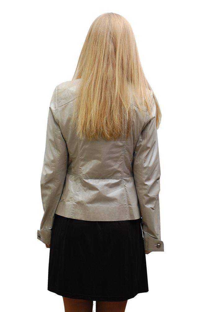 Бежевые Кожаные Куртки