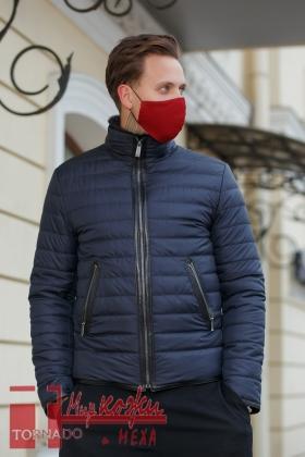 Комбинированная куртка «Кент» из кожи и ткани