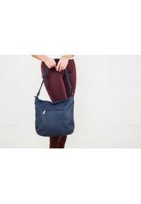 Тёмно-синяя кожаная сумка vis 2154