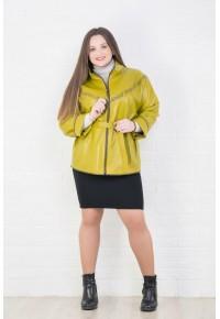 Женская кожаная куртка с декоративным узором nif b-90