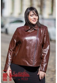 Кожаная куртка коричневого цвета Passa