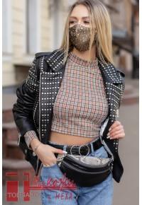 Сания 2 - куртка косая с камнями Сваровски