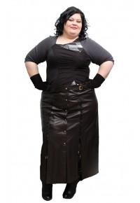 Женская кожаная юбка большие размеры Torn.5060