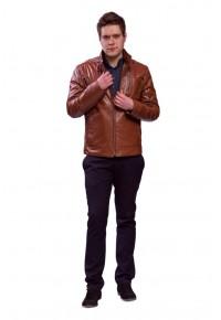 Двусторонняя кожаная куртка цвета виски glp-1527