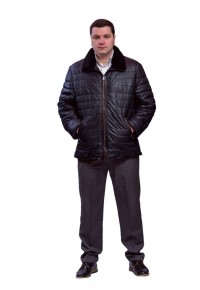 Стеганая утепленная кожаная куртка Glp-1410