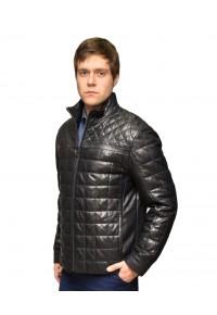 Утепленная стеганая кожаная куртка cll-1353
