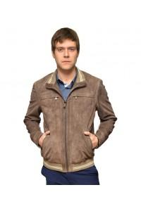 Замшевая мужская куртка коричневого цвета glp-1174