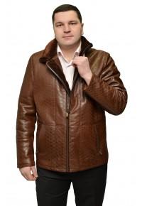 Мужская дубленка коричневого/черного цвета glp-1422