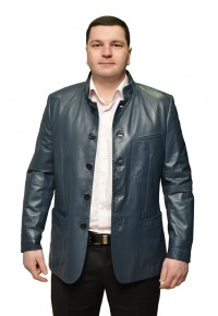 Мужская кожаная куртка из гладкой кожи Айсберг glp-586